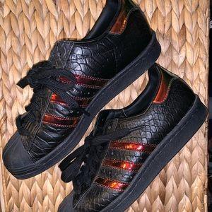 Shoes - Adidas Custom Made Snakeskin/Oil Slick Sneakers